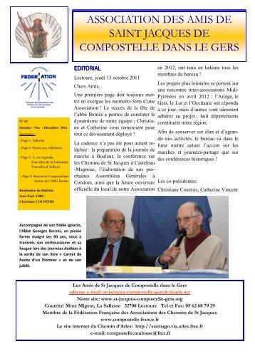 ASSOCIATION DES AMIS DE SAINT JACQUES DE COMPOSTELLE DANS LE GERS