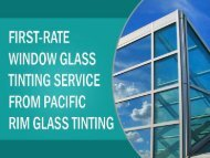 Glass Tinting Service from Pacific Rim Glass Tinting