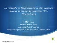 La recherche en Psychiatrie sur le plan national - Université de ...