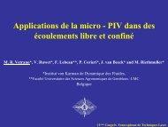 Applications de la micro - PIV dans des écoulements libre et confiné ...