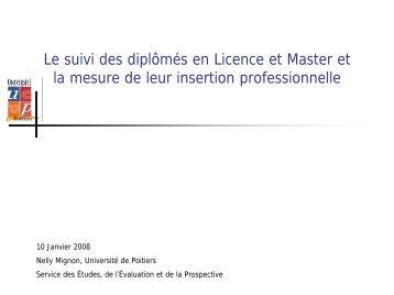 Situation des diplômés après 18 mois - Université de Poitiers
