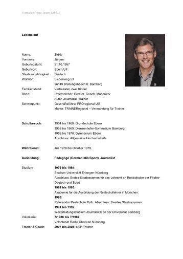 Jürgen Zirbik, 1 - Zirbik Business-Coaching