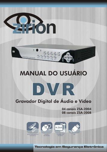 MANUAL DVR 8 CANAIS DEFINITIVO - Zirion