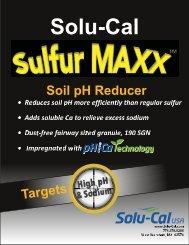 Tech Sheet - Solu-Cal