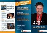 Vorstellungs-Faltblatt Dr. Gerald Näser (PDF) - Gerald-Naeser.de