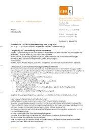 Protokoll der Vollversammlung am 23.03.2010 - GEB-K