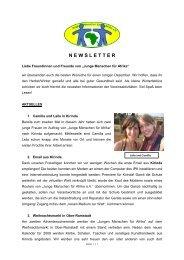 November 2008 - Junge Menschen für Afrika