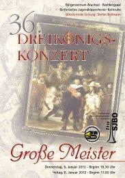 Große Meister - Sinfonisches Jugendblasorchester Karlsruhe
