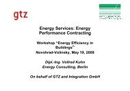 Energy Services: Energy Performance Contracting g