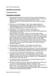Schriftenverzeichnis - Lehrstuhl für Bürgerliches Recht und ...