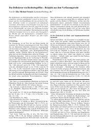 Das Definieren von Rechtsbegriffen – Beispiele aus dem - ZJS