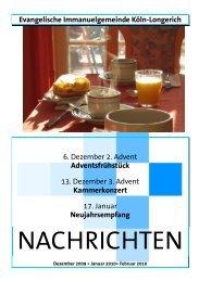 Ausgabe 4 - Evangelischen Immanuel-Gemeinde in Köln-Longerich