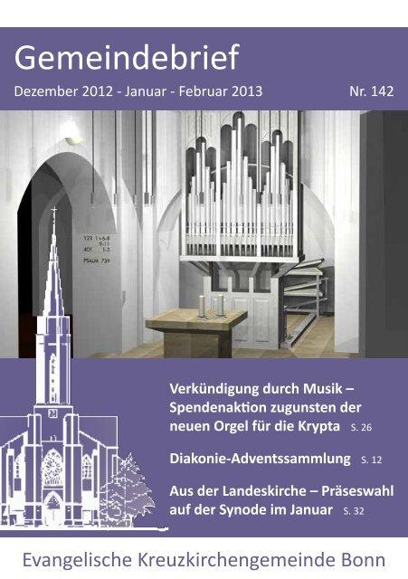 Gemeindebrief - Kreuzkirche Bonn