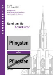 Gemeindebrief Nr. 136 - Kreuzkirche Bonn
