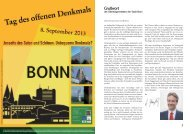 Denkmaltag 2013_Broschuere.indd - Baukultur Bonn