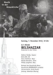 BELSHAZZAR - Kreuzkirche Bonn