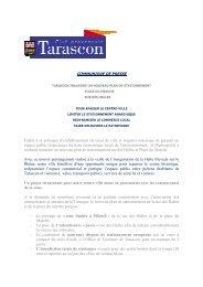 communiqué de presse nouveau plan de stationnement ... - Tarascon