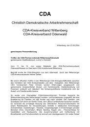 23.06. Treffen der CDA-Partnerverbände Wittenberg/Odenwald ...