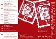 refo rm atio n sfest 2010 ludwigshafen - Protestantischer ...