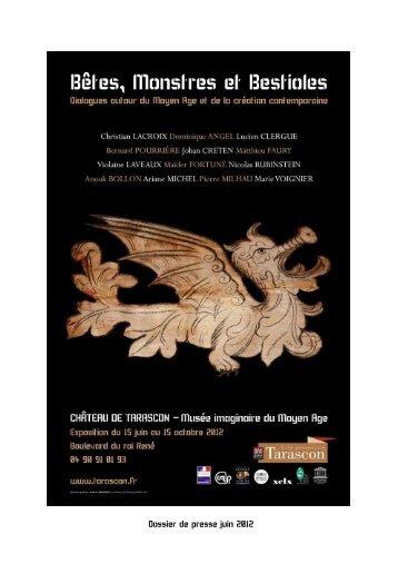 Dossier de presse juin 2012 - Château de Tarascon