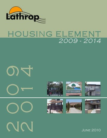 Housing Element Update - City of Lathrop