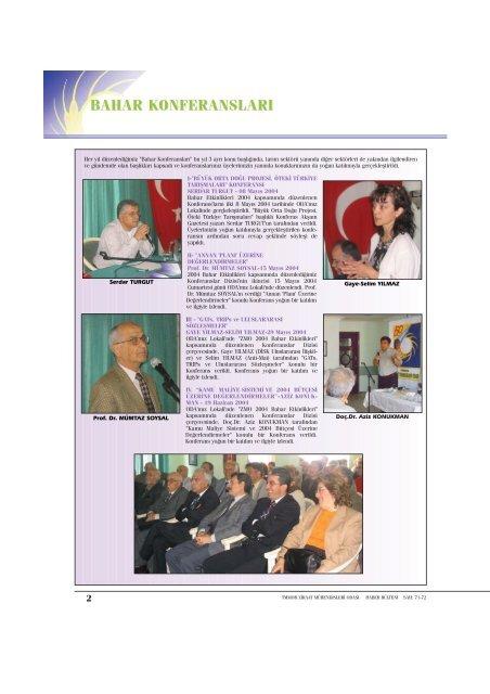 Bahar Konferanslari Ziraat Muhendisleri Odasi