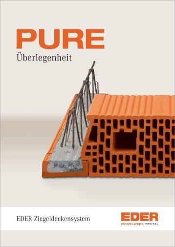 Ziegeldeckenprospekt - Ziegelwerk Freital EDER GmbH