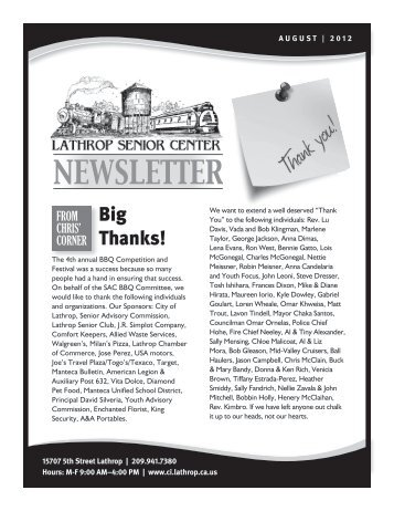 NEWSLETTER - City of Lathrop