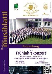Musiblattl 2015 - Einladung Frühjahrskonzert Musikkapelle Groß St. Florian
