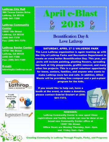 April eBlast draft version 5 JS - City of Lathrop
