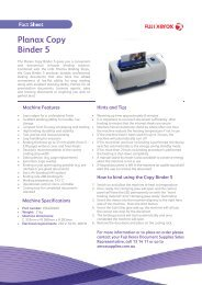 Planax Copy Binder 5 - Fuji Xerox Supplies