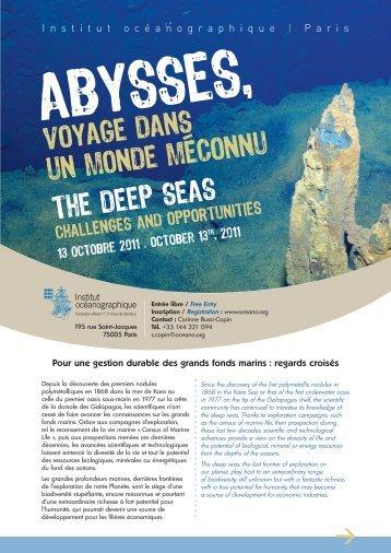voyage dans un monde meconnu the deep seas - InterRidge