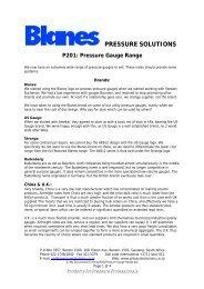 P201Pressure Gauge Range - Blanes Pressure Solutions