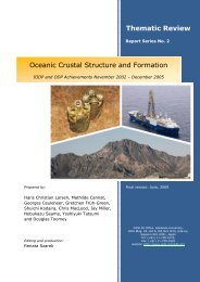 Oceanic Crustal Structure and Formation - IODP