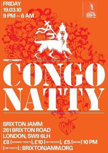 Friday 19.03.10 9 PM - Trinity Music London