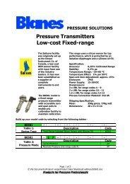 Pressure Transmitters Low-cost Fixed-range - Blanes Pressure ...