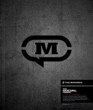 THE U.S.M.C. SoCial MEdia PrinCiPlES 1 www.MarinES.Mil