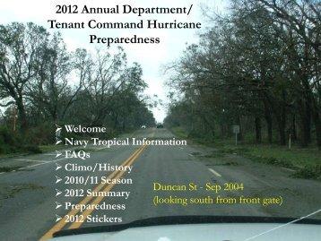 NAS Pensacola Hurricane Preparedness