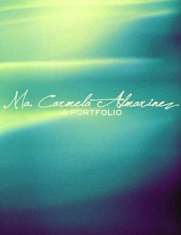 Ma. Carmela Almarinez' Portfolio