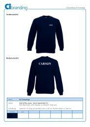 Korrekturabzug DEMO Sweat Shirt - carson company