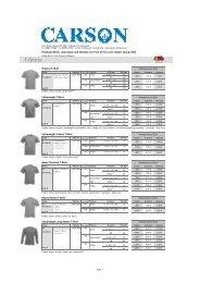 T-Shirts - Carson Company GmbH