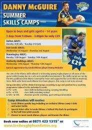 Danny McGuire Summer Skills Camps - Breeze
