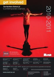 download the classes brochure - Northern School of Contemporary ...