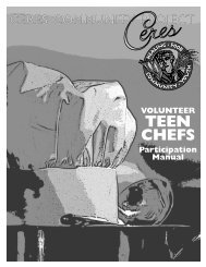 TEEN CHEFS - Ceres Community Project