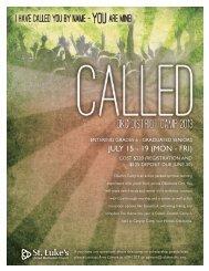 Download registration form. - St. Luke's United Methodist Church