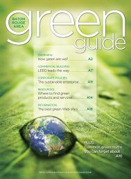 Business Report's Green Guide - Louisiana Solar Energy Society