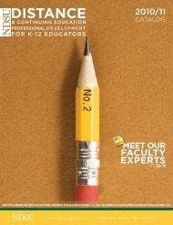 K-12 Professional Development Fall Catalog 2010/11