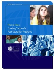 Creating Successful Peer Education Programs - International ...