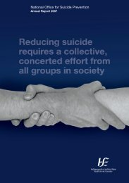 NOSP Annual Report 2007 - National Office for Suicide Prevention