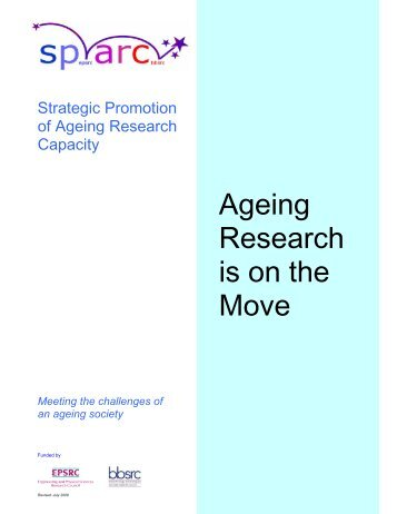 Ageing Research is on the Move - SPARC - Strategic Promotion of ...